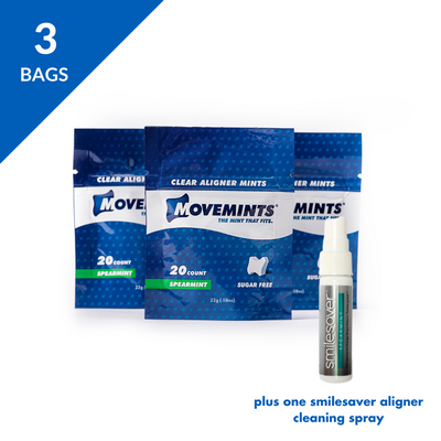 Smile Starter Deluxe | 3 Movemints + SmileSaver Spray - Movemints