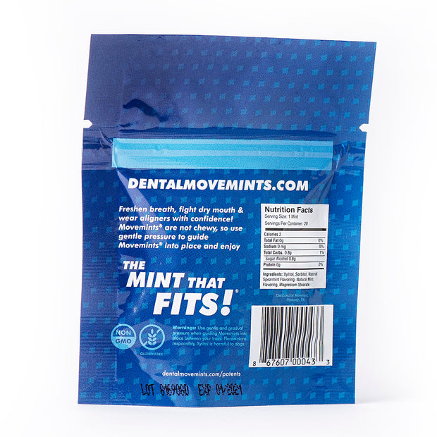 Deluxe Smile Journey Pack | 14 Bags of Movemints and 3 OrthoKey - Movemints, The Mint That Fits