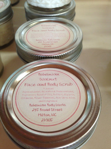 Bohemian Walnut Face and Body Scrub