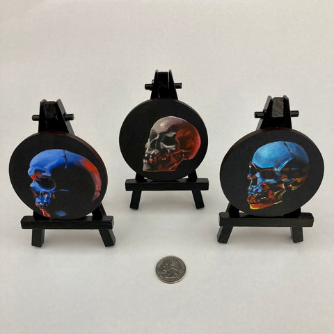 Mini Skull Paintings by Amar Stewart
