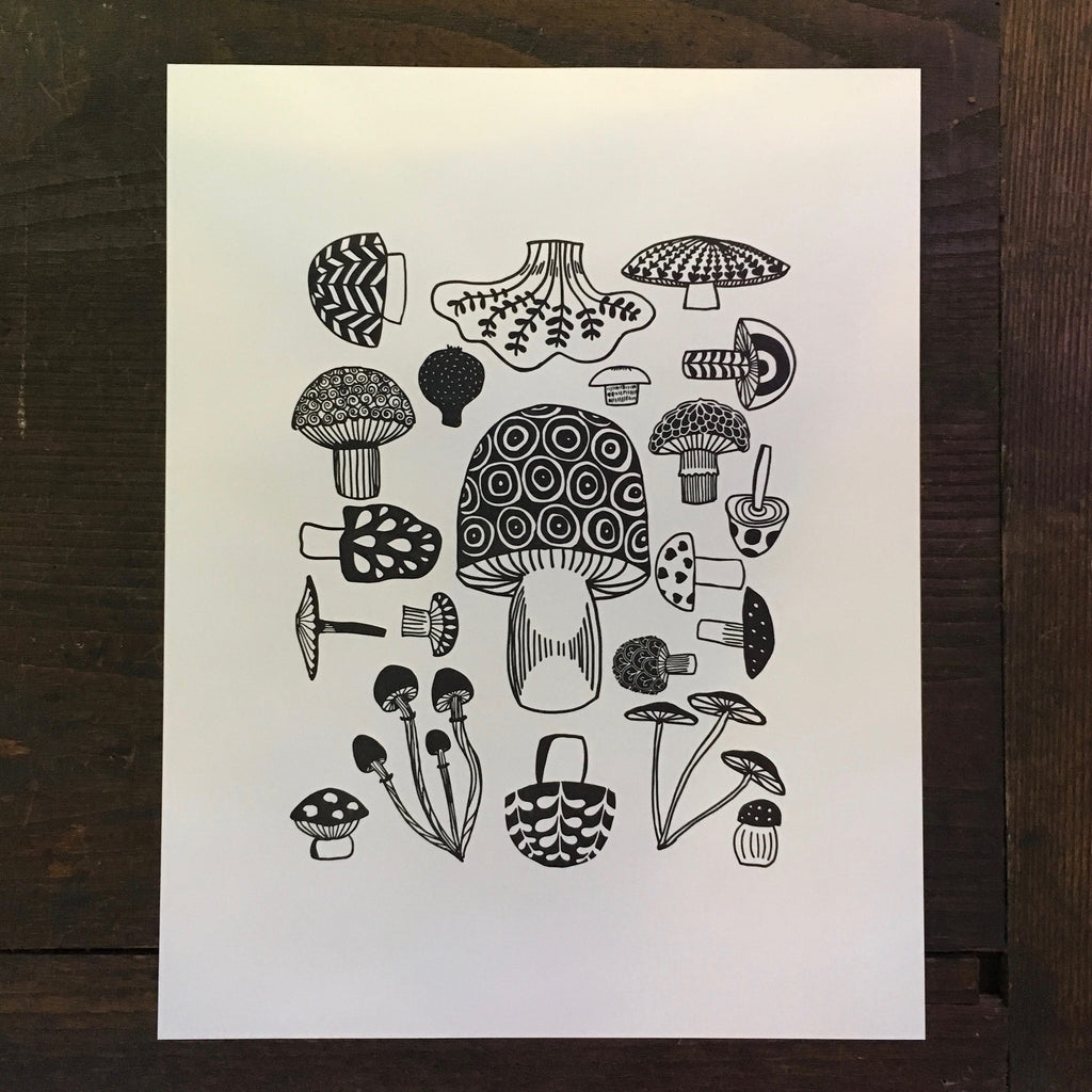Mushrooms - Print