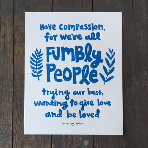 Fumbly People - Print