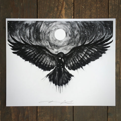 Shroud Me In Your Obsidian Night - Print