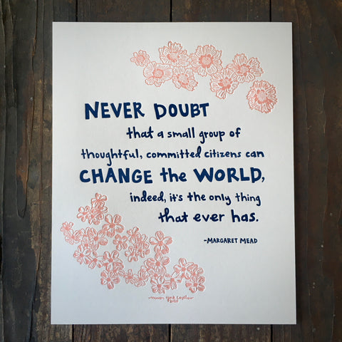 Margaret Mead Quote - Print