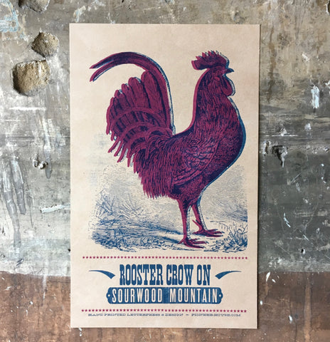 Rooster Crow On Sourwood Mountain - Poster