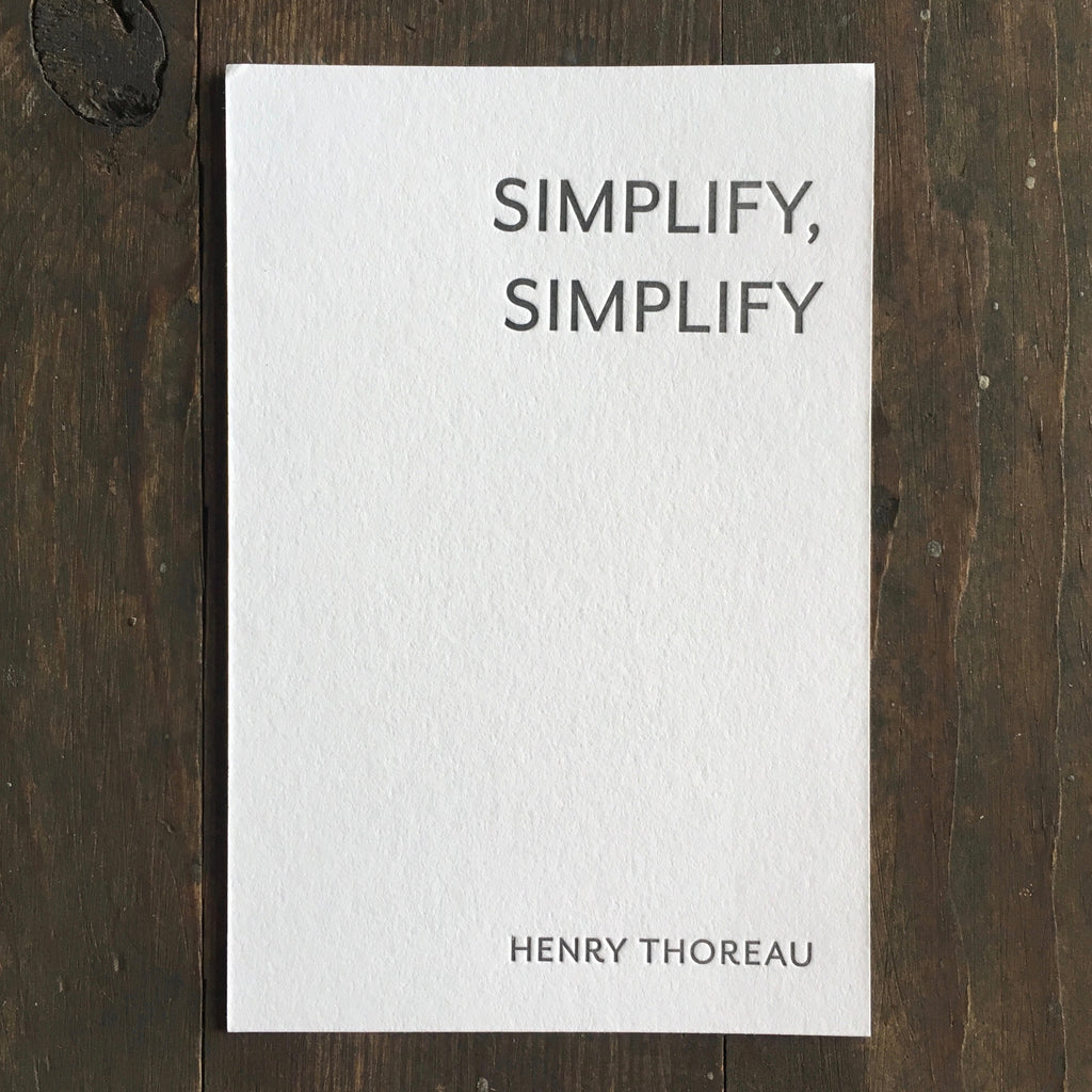 Henry Thoreau Quotation - Print