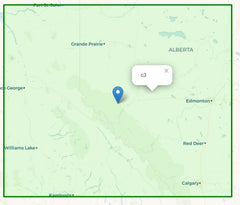 Geohash region covering Calgary and Edmonton