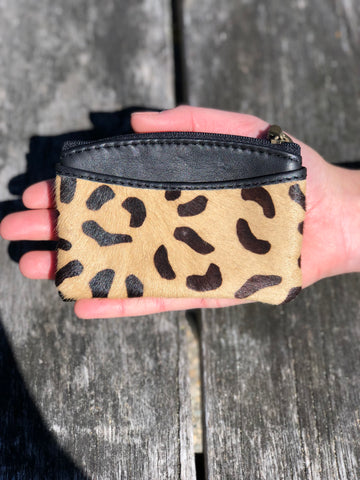 Coin & Card Purse - Leopard print