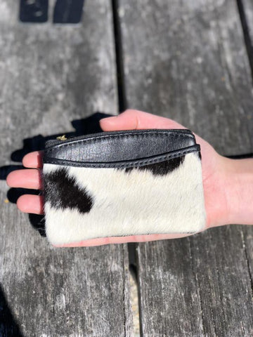 Coin & Card Purse - Black & White