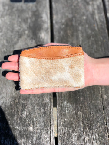Coin & Card Purse - Tan