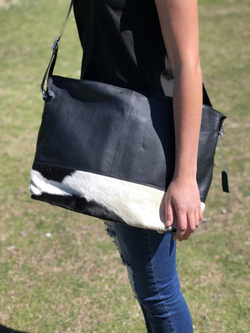 Allina - Black with Black & White Hide