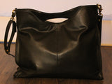 Hunter: Large leather carry tote bag with shoulder strap