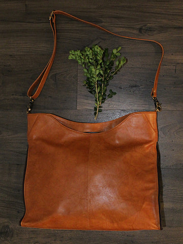 Hunter - Tan Leather with Tan & White Hide