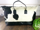Large cowhide luggage