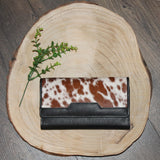 Lyn - Black Leather with Tan & White Hide