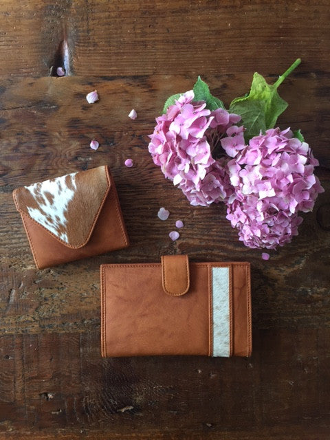 Kenzii Karla leather and cowhide wallet