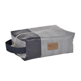 Alfred toiletry bag in oil cloth with a convenient handle made in France by Artiga, perfect for a shaving kit-Chevron Aubergine