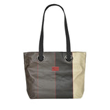 Bea large handbag in oil cloth with grommets-Argagnon