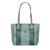 Bea large handbag in oil cloth with grommets-Chevron Epinard