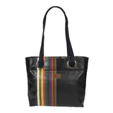 Bea large handbag in oil cloth with grommets-Mauleon Marine