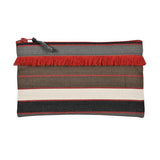 Pouch in espadrille fabric with fringe by Artiga, France-Argagnon