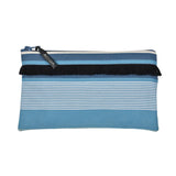 Pouch in espadrille fabric with fringe by Artiga, France-Garlin Bleu
