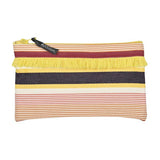Pouch in espadrille fabric with fringe by Artiga, France-Garlin Ocre