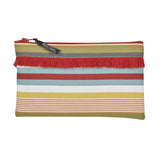Pouch in espadrille fabric with fringe by Artiga, France-Garazi (Organic Cotton)