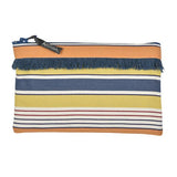 Pouch in espadrille fabric with fringe by Artiga, France-Gouts ( Organic Cotton)