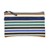 Pouch in espadrille fabric with fringe by Artiga, France-Lacquy ( Organic Cotton)