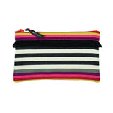 Pouch in espadrille fabric with fringe by Artiga, France-Larrau