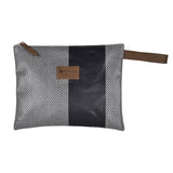 Lena  pouch in oil cloth by Artiga France-Chevron Aubergine