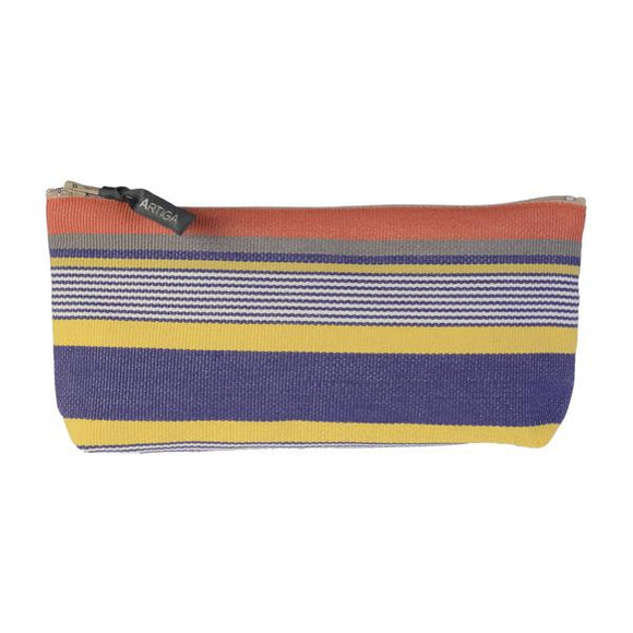 pencil case in espadrille fabric, made in France-Puyoo