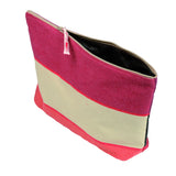 Toiletry bag canvas made in France by Artiga in heavy duty cotton canvas-Laas Rouge