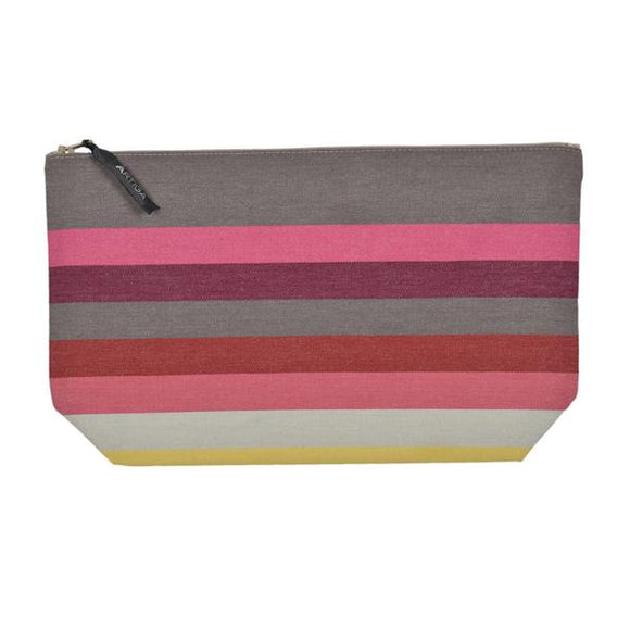 Toiletry bag canvas made in France by Artiga in heavy duty cotton canvas-Larrau