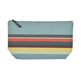 Toiletry bag canvas made in France by Artiga in heavy duty cotton canvas-Mauleon Celadon