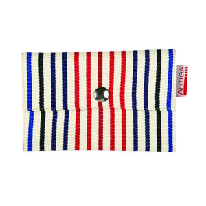 wallet in espadrille fabric, made in France by Artiga-Hinx