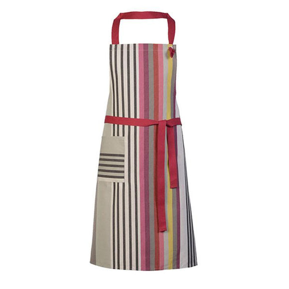 Apron in cotton-linen, made in France by Artiga-Larrau