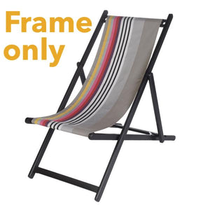 European folding deck chair-natural wood finish or painted with outdoor ready canvas or thick cotton canvas