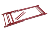 European folding deck chair-red/rouge