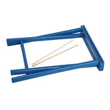 Folding stool made in France by Artiga-Capri Blue - Bleu Capri
