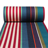 Strong 100% cotton woven canvas designed by Artiga, great for deckchairs, stools, director chairs-Tyrosse Bleu