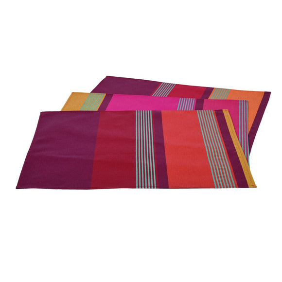 coated placemat, woven in france, sewn in Canada-Bidos Cassis