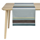coated table runner, woven in France, sewn in canada, designed by Artiga-Arsague Or ( Organic)