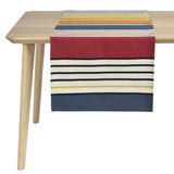 coated table runner, woven in France, sewn in canada, designed by Artiga-Gouts ( Organic Cotton)