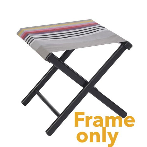 Folding stool made in France by Artiga-natural wood finish or painted with outdoor ready canvas or thick cotton canvas