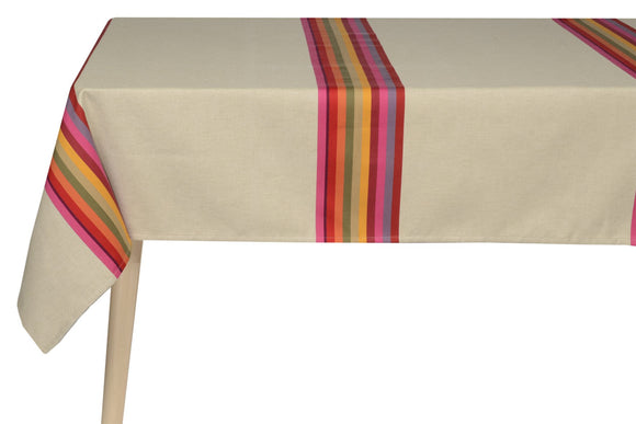 coated table cloth, woven in France, sewn in Canada, designed by Artiga-for 4 people