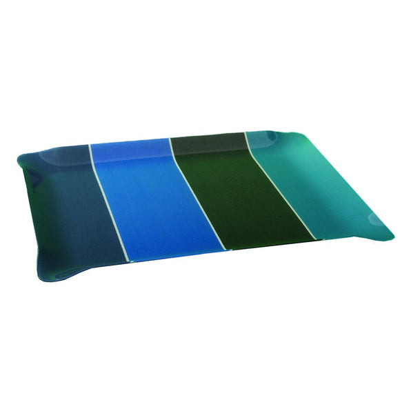 Large tray with Artiga fabric inside, in a mold of acrylic-Montfort Bleu