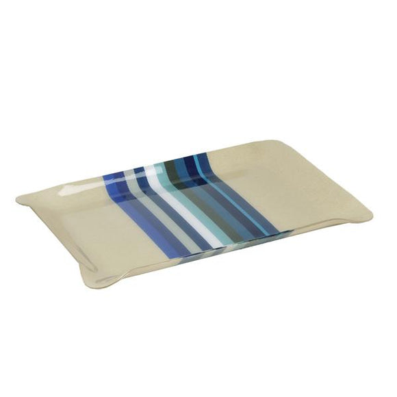 Medium tray with Artiga fabric inside, in a mold of acrylic-Mauleon Bleu do