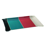 Medium tray with Artiga fabric inside, in a mold of acrylic-Montfort Bleu